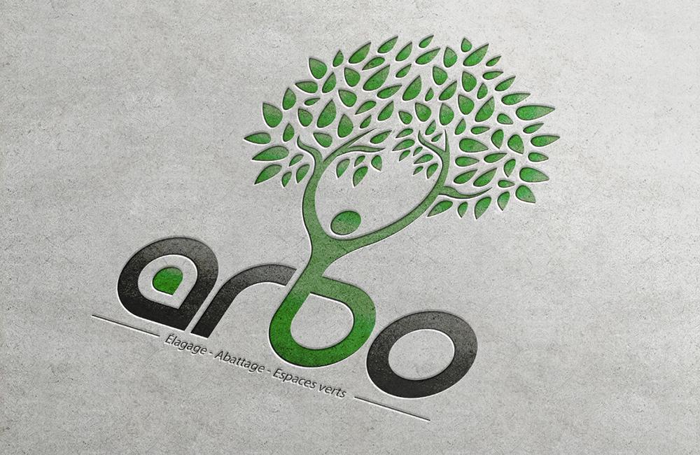 cartes de visite pour logo arbo