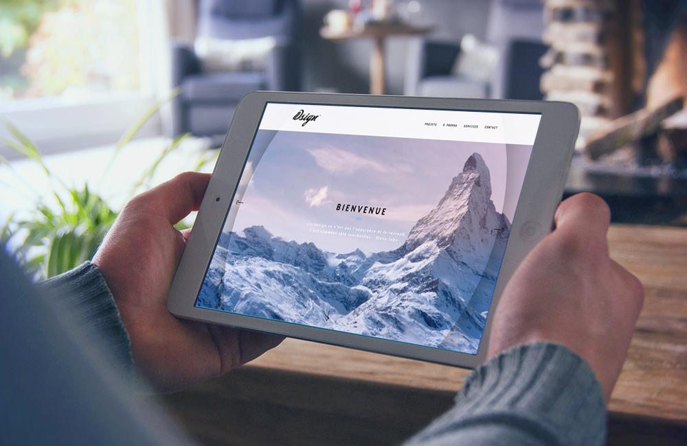 le site internet 10sign.fr sur tablette